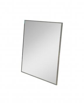 R & J spegel svart krom 95x95 1