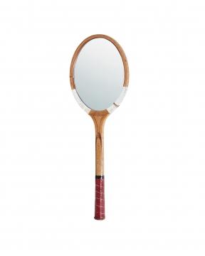 Tennisrack spegel röd/vit 1