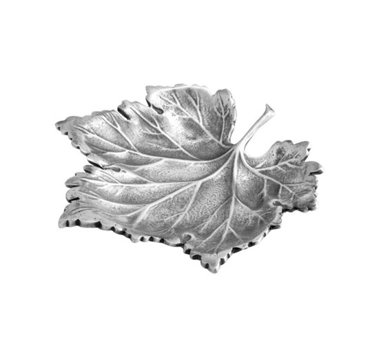 Maple Leaf bricka antik silver OUTLET