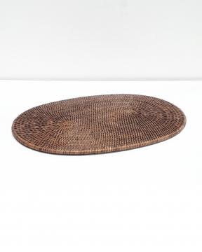 Cognac bordstablett oval rotting 1