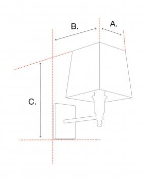 Cascade vägglampa nickel 2