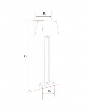Cordero golvlampa nickel 2