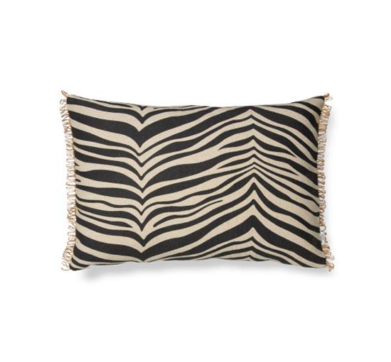 Zebra kuddfodral svart 40x60