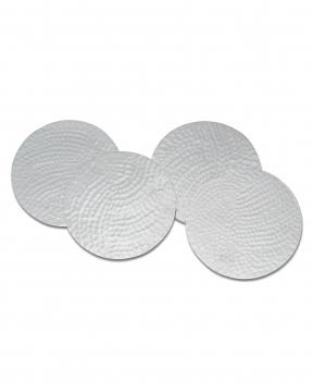 Hammered glasunderlägg silver 1