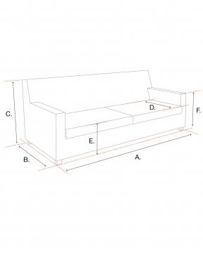 Sienna soffa grå/svart höger 2