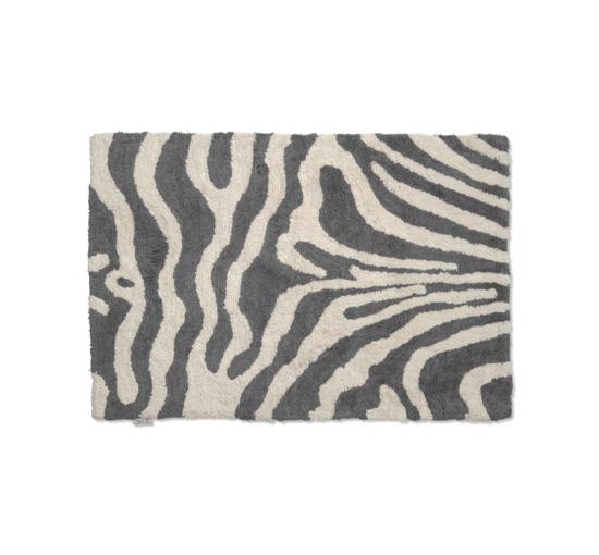 Zebra badrumsmatta titanium/vit