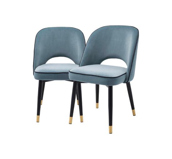 Cliff matstolar blå