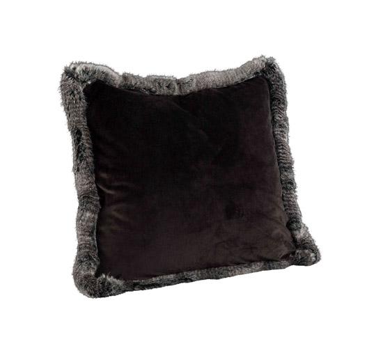 Leia Velboa kuddfodral grå 60x60 Artwood