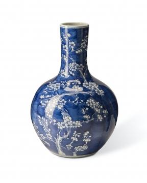 Körsbärsblom vas blå 1