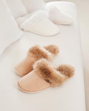 Aspen slippers beige 2
