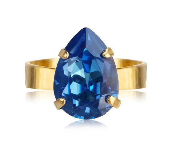 Mini Drop ring royal blue delite