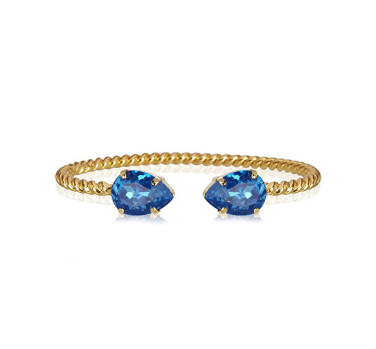 Mini Drop armband royal blue delite