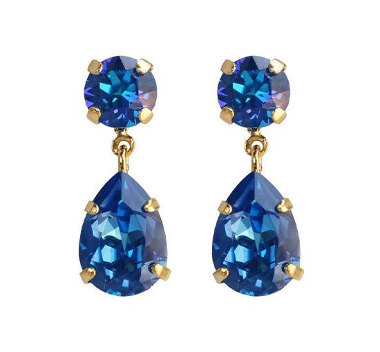 Mini Drop örhängen royal blue delite