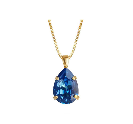 Mini Drop halsband royal blue delite
