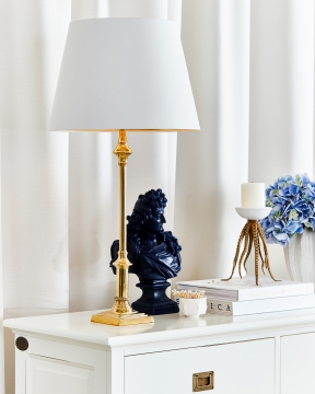 Louis XIV vaxbyst blå 1