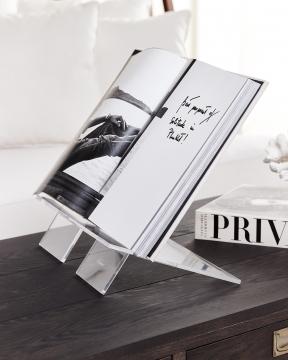 Bokstöd transparent stående L 2