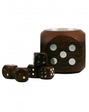 Tärning spel brun/silver 1