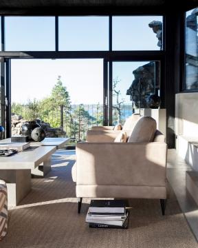 Andorra skinnfåtölj taupe 1