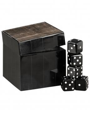 Avorio tärningsspel svart/brun 1