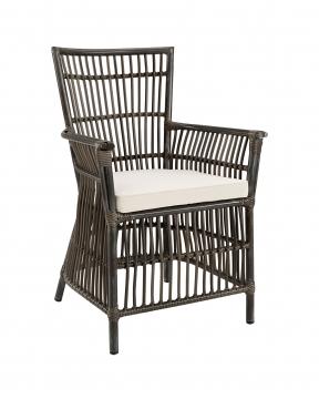Modest karmstol grå 1