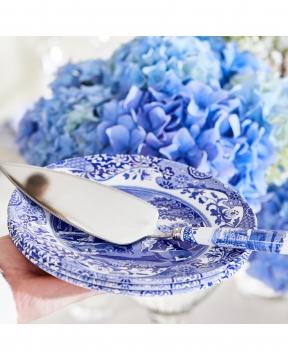 Blue Italian tårtspade blå/vit 4