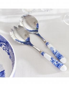 Blue Italian salladsbestick blå/vit 5
