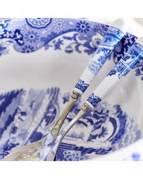 Blue Italian salladsbestick blå/vit 2