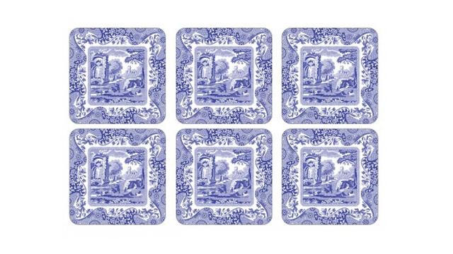 Blue Italian glasunderlägg blå/vit 3