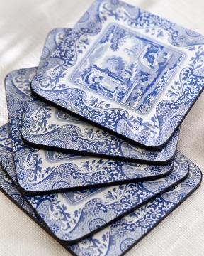 Blue Italian glasunderlägg blå/vit 4