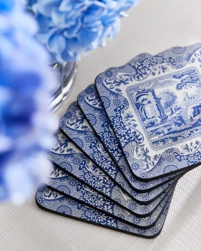 Blue Italian glasunderlägg blå/vit 2