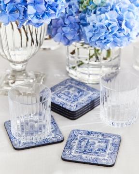 Blue Italian glasunderlägg blå/vit 1