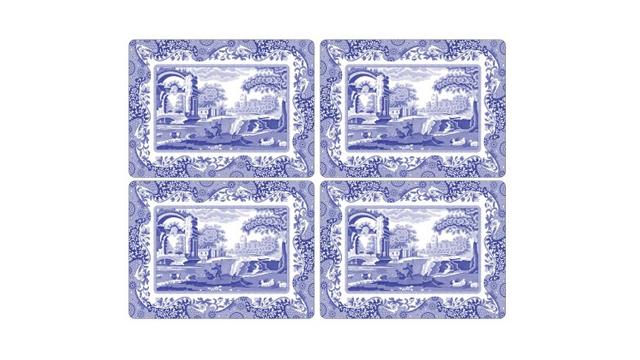 Blue Italian bordsunderlägg 4-pack 1