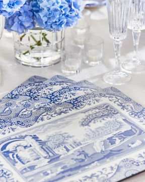 Blue Italian bordsunderlägg 2