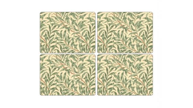 Bordstablett Spode William Morris Green 4-pack 1