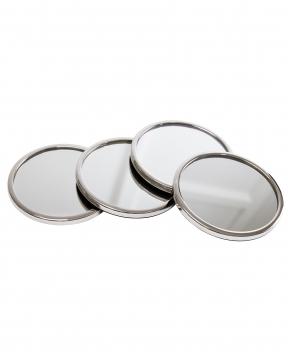 Garrett glasunderlägg silver 3