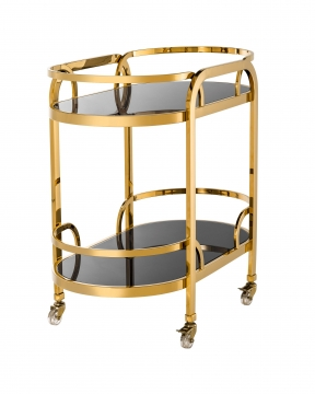 Oakhurst drinkvagn guld 3