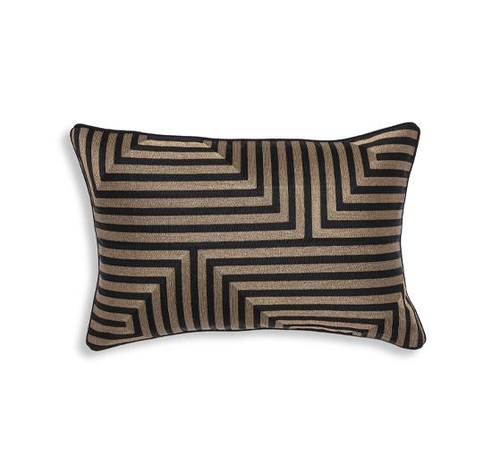 Spray kudde rektangulär svart/guld