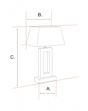 Pascal bordslampa brons 5