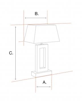 Amber bordslampa mässing 2