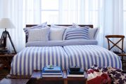 Newport bäddset big stripe blue 4