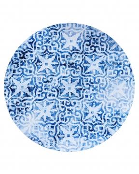 Portofino bordsunderlägg rund blå/vit 3