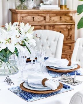Portofino bordsunderlägg blå/vit 6