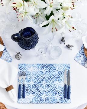 Portofino bordsunderlägg blå/vit 2