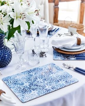 Portofino bordsunderlägg blå/vit 5