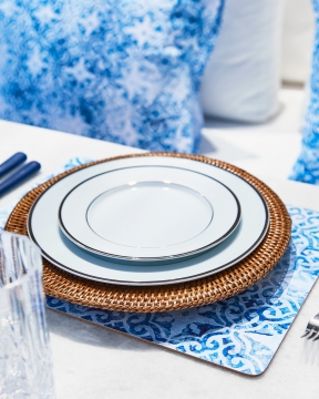 Portofino bordsunderlägg blå/vit 1