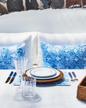 Portofino bordsunderlägg blå/vit 4