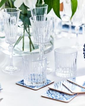 Portofino glasunderlägg blå/vit 5
