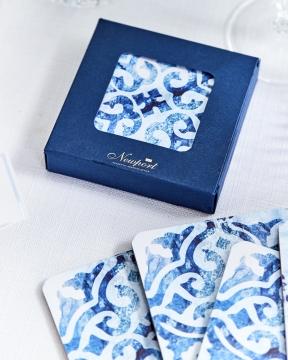 Portofino glasunderlägg blå/vit 2