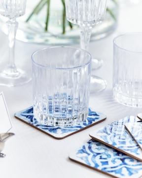 Portofino glasunderlägg blå/vit 1