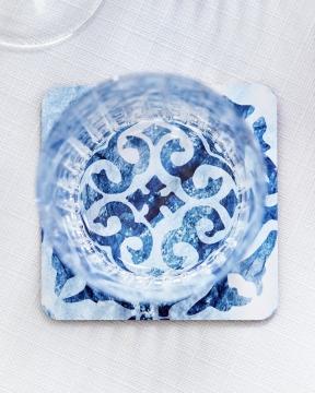 Portofino glasunderlägg blå/vit 4